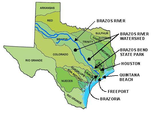 Map Of Brazos River In Texas My blog